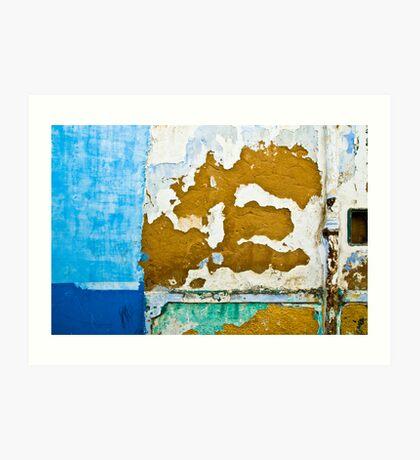 Blue Patches Art Print