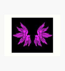 Pink Fairy Wings T-Shirt Womens Top Art Print