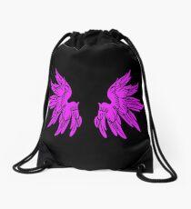 Pink Fairy Wings T-Shirt Womens Top Drawstring Bag