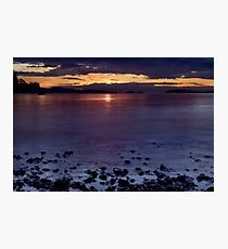 Dramatic sunset over the Strait of Georgia Pacific Ocean art print Photographic Print