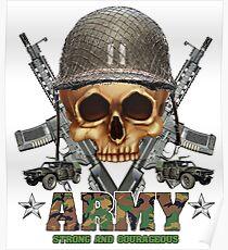 Army Skull Guns Poster