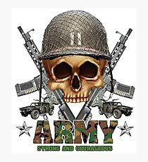 Army Skull Guns Photographic Print