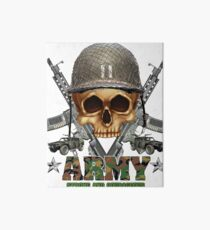 Army Skull Guns Art Board