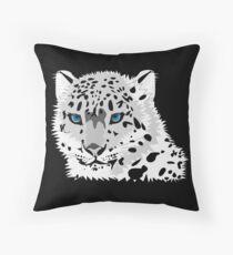 Beautiful Snow Leopard Throw Pillow