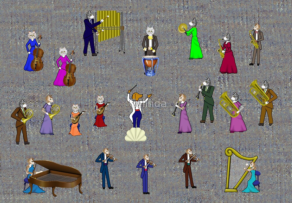 Cats & Dog Orchastra by Celinda