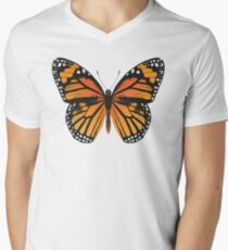 Monarch Butterfly | Vintage Butterflies |  V-Neck T-Shirt