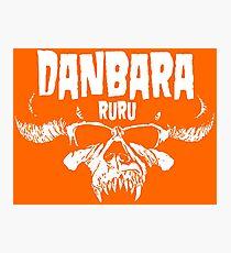 Danbara Ruru - Danzig - White Ink Photographic Print