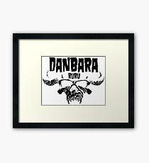 Danbara Ruru - Danzig - Black Ink Framed Print