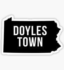 Doylestown, Pennsylvania Silhouette Sticker