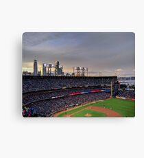 San Francisco Giants at twilight Canvas Print
