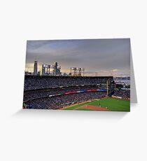 San Francisco Giants at twilight Greeting Card