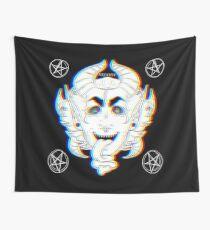 Satanic Versace Head Wall Tapestry