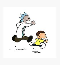 Rick and Morty / Calvin and Hobbes Photographic Print