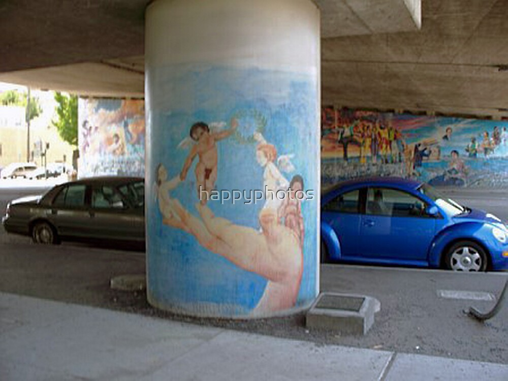 Art work under the freeway by happyphotos