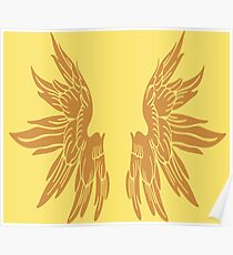 Golden Angel Icarus Wings Poster