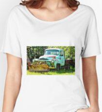 Blue Snowplow Truck Women's Relaxed Fit T-Shirt