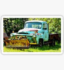 Blue Snowplow Truck Sticker