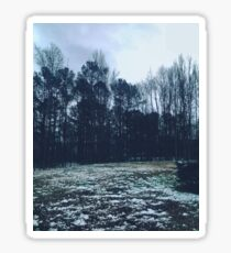 snowy scene  Sticker