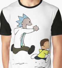 Rick and Morty / Calvin and Hobbes Graphic T-Shirt