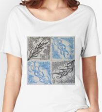 Zentangle 26 Four Feathers Women's Relaxed Fit T-Shirt