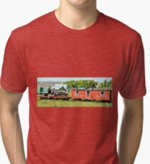 Red Train and Wagon Tri-blend T-Shirt