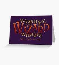 Weasleys' Wizard Wheezes Greeting Card