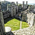 Caernarfon Castle, North Wales by hans p olsen