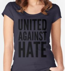 united against hate Women's Fitted Scoop T-Shirt
