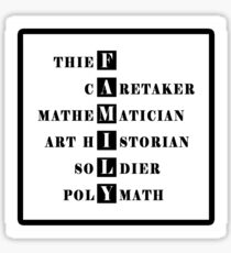 (Librarians) F A M I L Y  Sticker