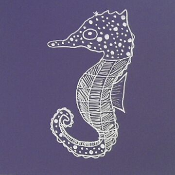 White Spots and Stripes Seahorse by dinelson