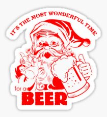 The Most Wonderful Time for a Beer - Red Sticker