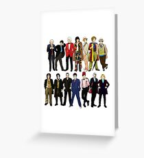 The 14 Doctors Greeting Card
