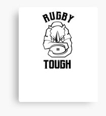 Rugby Tough Rhino Mascot Canvas Print
