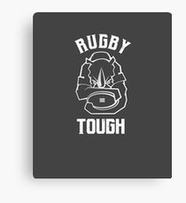 Rugby Tough Rhino Mascot T-shirt Canvas Print