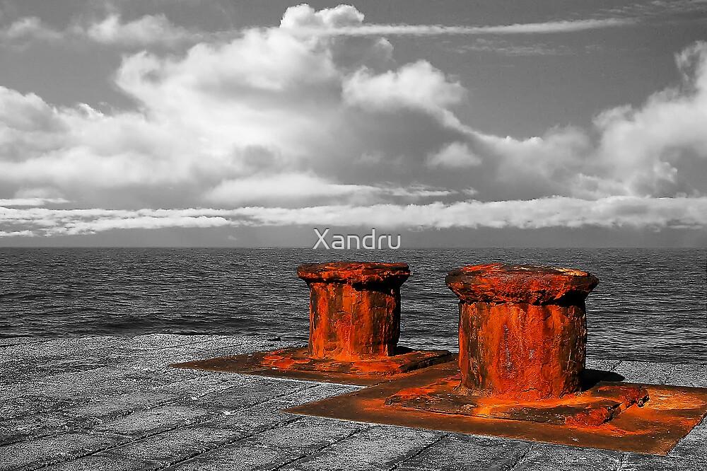 Two Bollards by Xandru
