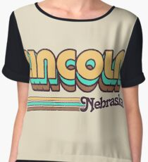 Lincoln, NE | City Stripes Women's Chiffon Top
