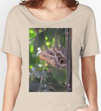 Beautiful brown butterfly in the garden  Women's Relaxed Fit T-Shirt