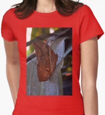 Brown butterfly on green leaves  T-Shirt