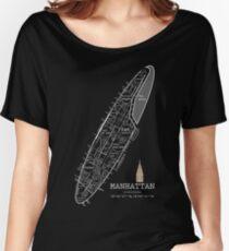 NYC, Manhattan neighborhoods 2 Women's Relaxed Fit T-Shirt