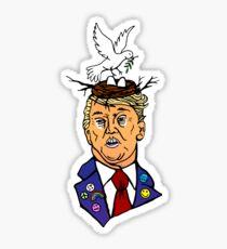 Trump of Yuge Eternal Peace Sticker