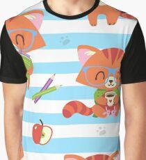 nerd cat Graphic T-Shirt