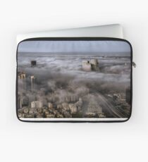 City Skyscrapers Above The Clouds Laptop Sleeve