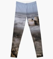 City Skyscrapers Above The Clouds Leggings