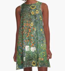 Gustav Klimt - The Sunflower A-Line Dress