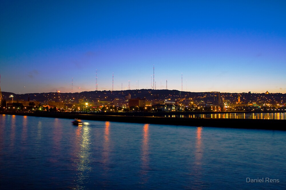 Twilight  Over Duluth by Daniel Rens