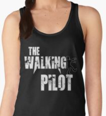 funny Pilot, walking Aircraft Airman, plane Helicopter piloting gift t shirt Women's Tank Top