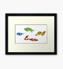 Reptile party!  Framed Print