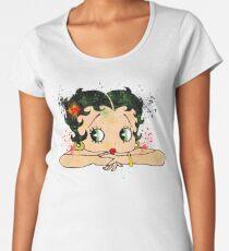 Betty Boop Watercolor Art Women's Premium T-Shirt