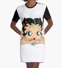 Betty Boop Watercolor Art Graphic T-Shirt Dress