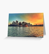 Sydney Opera House Sunset Greeting Card